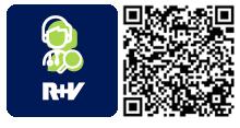 QR-Code für die App R+V-ArztSuche